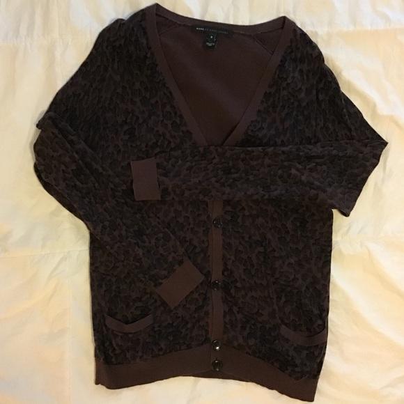 53b83e4ef5c9 Marc Jacobs Sweaters | Vintage Marc By Leopard Cardigan | Poshmark